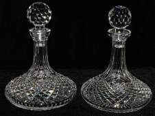 111211 WATERFORD CRYSTAL SHIPS DECANTERS TWO H 10