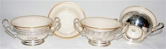 111465 FRANK M WHITING CO STERLING SOUPS WITH LENOX