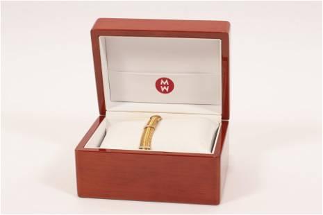"ROBERTO COIN 18KT GOLD BRACELET, DIAMOND ENHANCED L 7"""