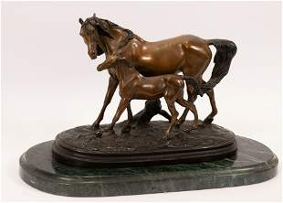 AFTER CHRISTOPHE FRATIN (FRENCH, 1801-1864) BRONZE
