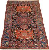 "PERSAN HAMADAN WOOL CARPET, W 4' 7"", L 7'"