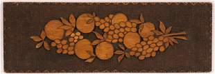 AMERICAN FOLK-ART CARVED WOOD ARCHITECTURAL PANEL,