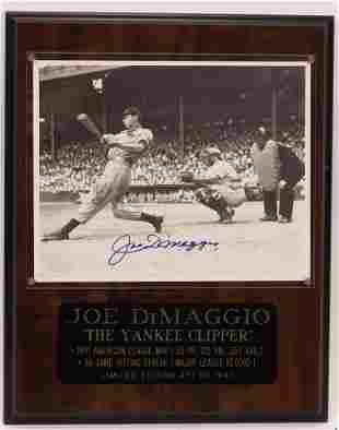 "JOE DIMAGGIO SIGNED  PHOTO H 15"" W 12"" LIMITED EDITION"