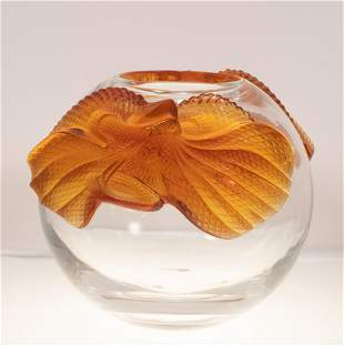 LALIQUE (CO.) (FRENCH, ESTABLISHED 1885) MOLDED AND