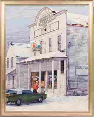 EDMUND LEWANDOWSKI (AMERICAN, 1914-1998) OIL ON CANVAS,