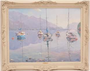 PIERRE BITTAR, (MICHIGAN/FRENCH B. 1934), OIL ON