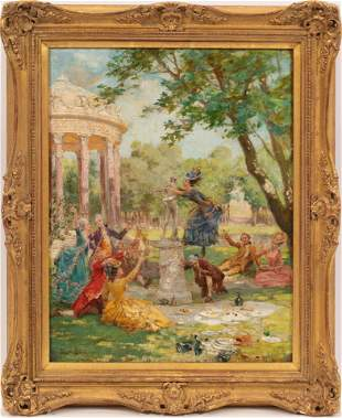ATTR. MAURICE LELOIR (FRENCH, 1853-1940) OIL ON CANVAS,