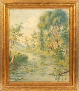 WILLARD AYER NASH, (AMERICAN 1898-1943) OIL ON CANVAS,
