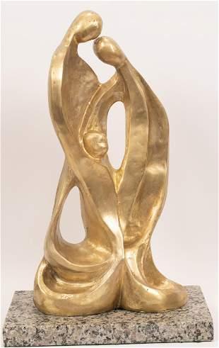 JACQUES LIPCHITZ (AMER/FRANCE, 1891-1973) ORIGINAL GILT