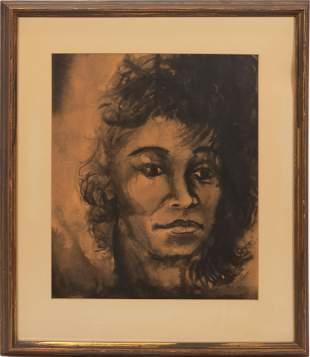 "BENNIE WHITE, B 1937, WATERCOLOR H 18"" W 15"" AFRICAN"