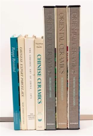 ASIAN CERAMIC ART HISTORY & REFERENCE BOOKS, 7 PCS