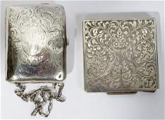 121385: STERLING PURSE & CONTINENTAL SILVER COMPACT,