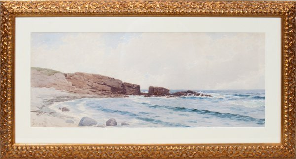 122001: ALFRED THOMPSON BRICHER, WATERCOLOR ON PAPER