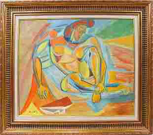 """122003: ANDRE LHOTE, OIL ON CANVAS, 21 1/4"""" X 25 3/4"""","""