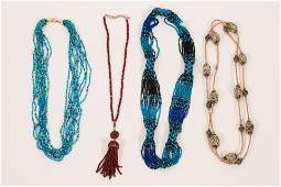 GUATEMALA SEED BEAD NECKLACE + 3 OTHERS