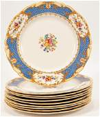 ALFRED MEAKIN (ENGLAND) 'OSIRIS' PORCELAIN PLATES, 10