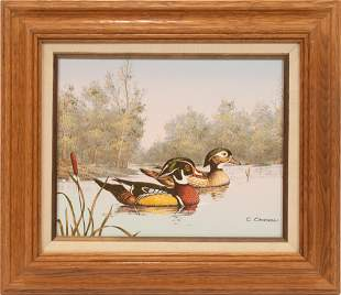 "C. CARSON, SERIGRAPH ON CANVAS, H 8"", W 10"", MALLARD"