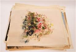 HAROLD COHN (AMER, MICH, 1908-82), MIXED MEDIA ON