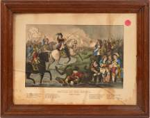 """CURRIER AND IVES, LITHOGRAPH H 9.5"""" W 12.2"""" BATTLE 0F"""