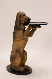 """BLOODHOUND COMPOSITE BUTLER'S TRAY, H 33"""", W 15"""""""