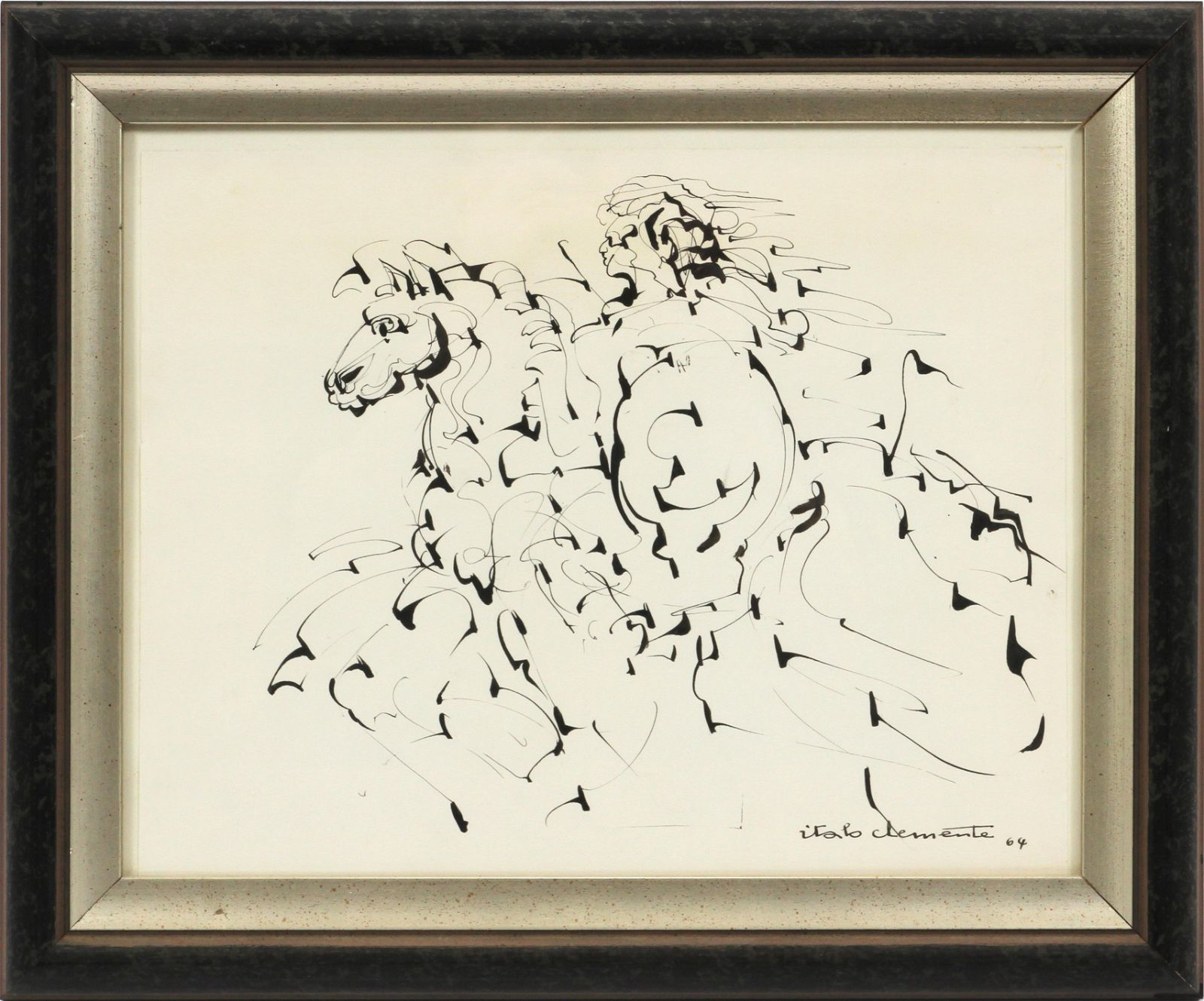 ITALO CLEMENTE (NEW YORK/ITALY 1930-2010) INK DRAWING
