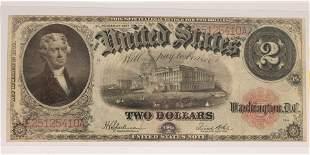 U.S.NOTE $2.DOLLAR PAPER CURRENCY JEFFERSON PORTRAIT