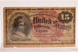 RARE .15C ACT APPROVED MARCH 3RD.1863 LIBERTY-WARRIOR