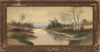 """F. MARTIN WATERCOLOR ON PAPER, EARLY 20TH C. H 12"""", W"""