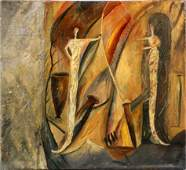 STEPHEN BALDAUF (AMERICAN, 20TH C.), OIL ON CANVAS, H