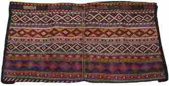 """HAND-WOVEN WOOL SADDLEBAGS, H 26"""", L 49"""""""