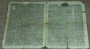 PHILADELPHIA PUBLIC LEDGER AMERICAN  NEWSPAPER MARCH