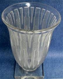"""VERLYS, FRENCH CRYSTAL VASE, H 7 1/2"""", W 5 1/2"""", D 3"""