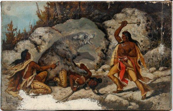 010004: H.H. CROSS (AMER. 1837-1918), OIL ON CANVAS