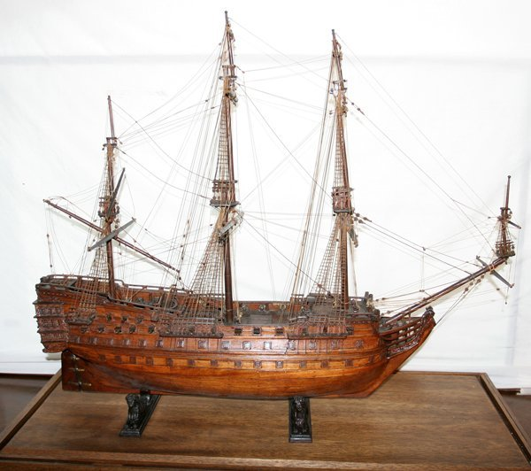 010023: WOOD SHIP MODEL, ROYAL ALBERT, SHIP-OF-THE-LINE