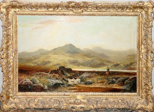 """012019: CHARLES LESLIE OIL/CANVAS """"THE CONWAY VALLEY"""""""