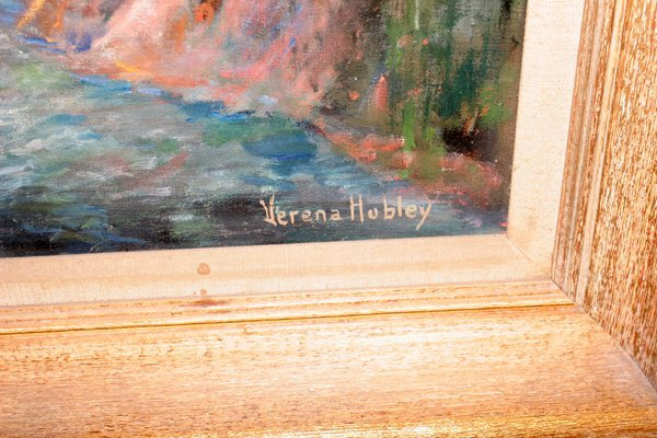 012173: VERENA HUBLEY, OIL ON CANVAS, RIVER DAM - 2