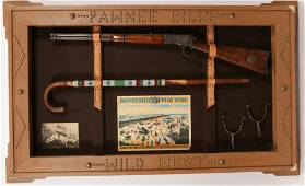 WINCHESTER MODEL 1892 LEVER ACTION RIFLE, IN SHADOWBOX