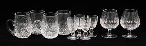 WATERFORD 'COLLEEN' CRYSTAL TANKARDS, CORDIALS &