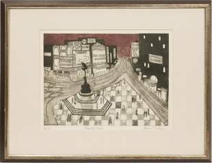 JULIAN TREVELYAN (BRITISH, 1910-1988) AQUATINT ETCHING
