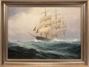 JOHANNES HOLST (GERMAN 1880-1965) OIL ON CANVAS, 1919,