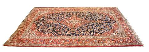 "PERSIAN KASHAN WOOL CARPET, C. 1970, W 9', L 12' 2"""
