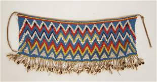 SOUTHERN AFRICAN SHELLS AND BEADS APRON WITH SHELL