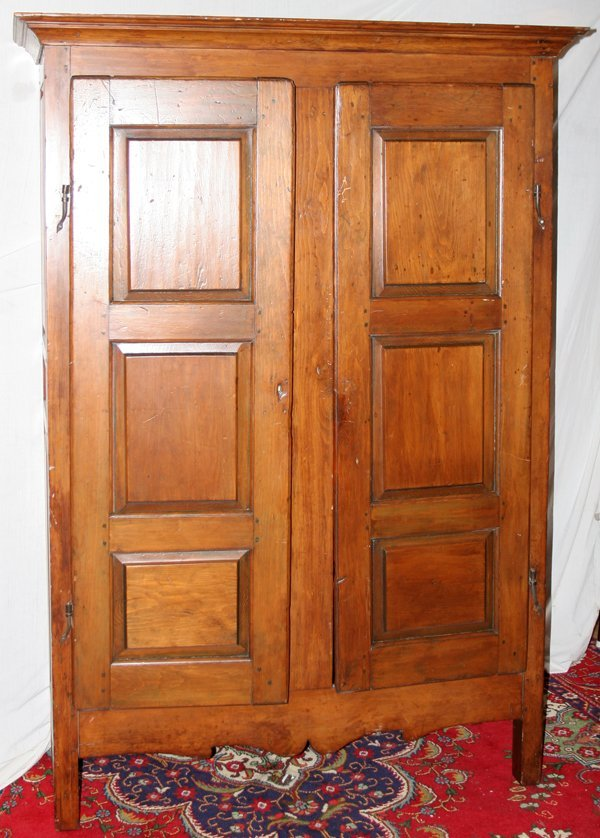 "020009: MONTREAL PINE ARMOIRE, C. 1830, H 81 1/2"","