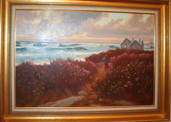 "020035: BRUCE TURNER OIL ON CANVAS 1986 ""MORNING GALES"