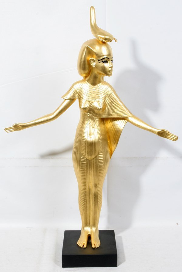 021063: MMA REPRO EGYPTIAN STATUE OF THE GODDESS SELKET