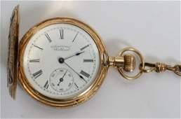021204 AMERICAN WALTHAM 14KT GOLD POCKET WATCH 1896