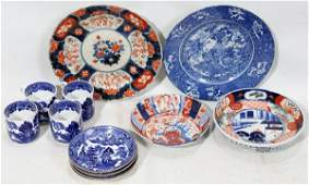 021329: JAPANESE PORCELAIN GROUPING, 12 PIECES