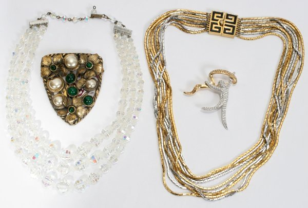 021434: SWAROVSKI, GIVENCHY & OTHER BROOCHES, NECKLACE