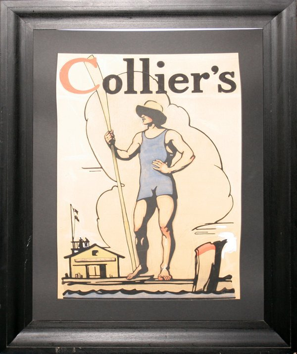 022013: WATERCOLOR & GOUACHE ILLUSTRATION FOR COLLIER'S