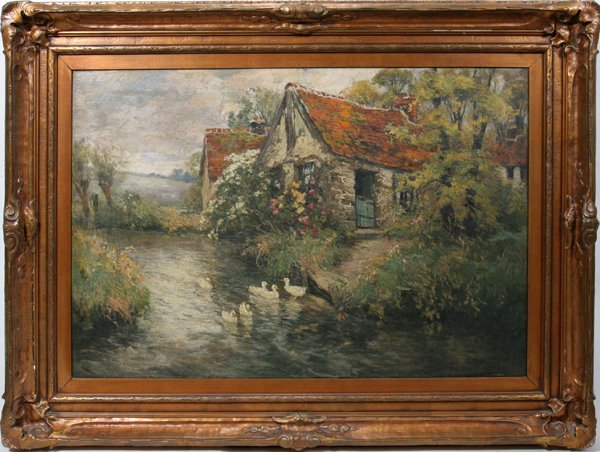"""022023: FREDERIC C.V. EDE OIL ON CANVAS 24"""" X 36"""" 1918"""